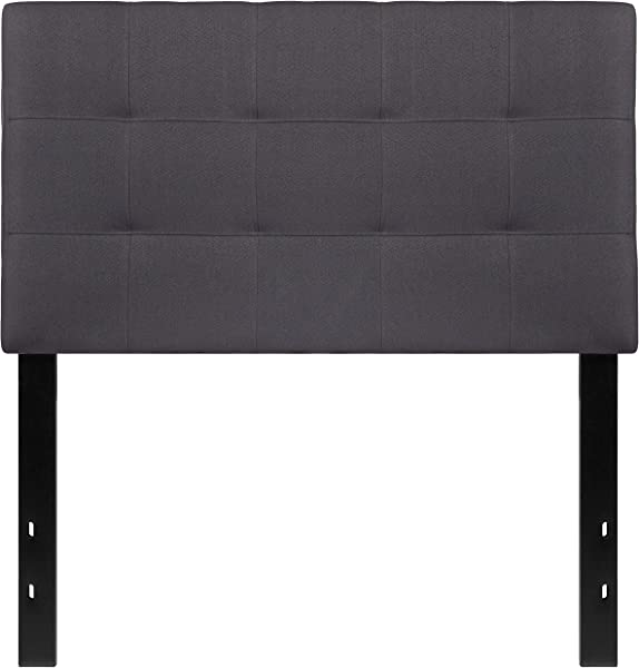 My Friendly Office MFO Gale Collection Twin Size Headboard In Dark Gray Fabric