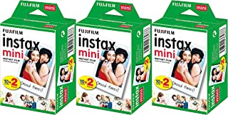 Fujifilm Instax Mini Instant Film (3 Twin Packs, 60 Total Pictures) - (International Version, No AU warranty)