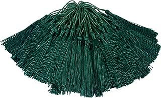 dark green tassels