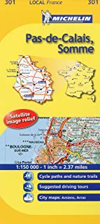 Michelin Map France: Pas-de-Calais, Somme 301 (Maps/Local (Michelin)) (English and French Edition)