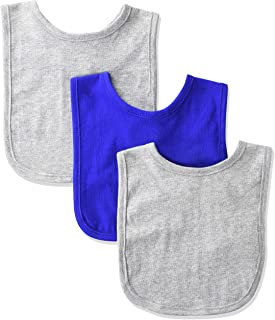 Marky G Apparel Baby Premium Jersey Contrast Trim Bib (Pack of 3)