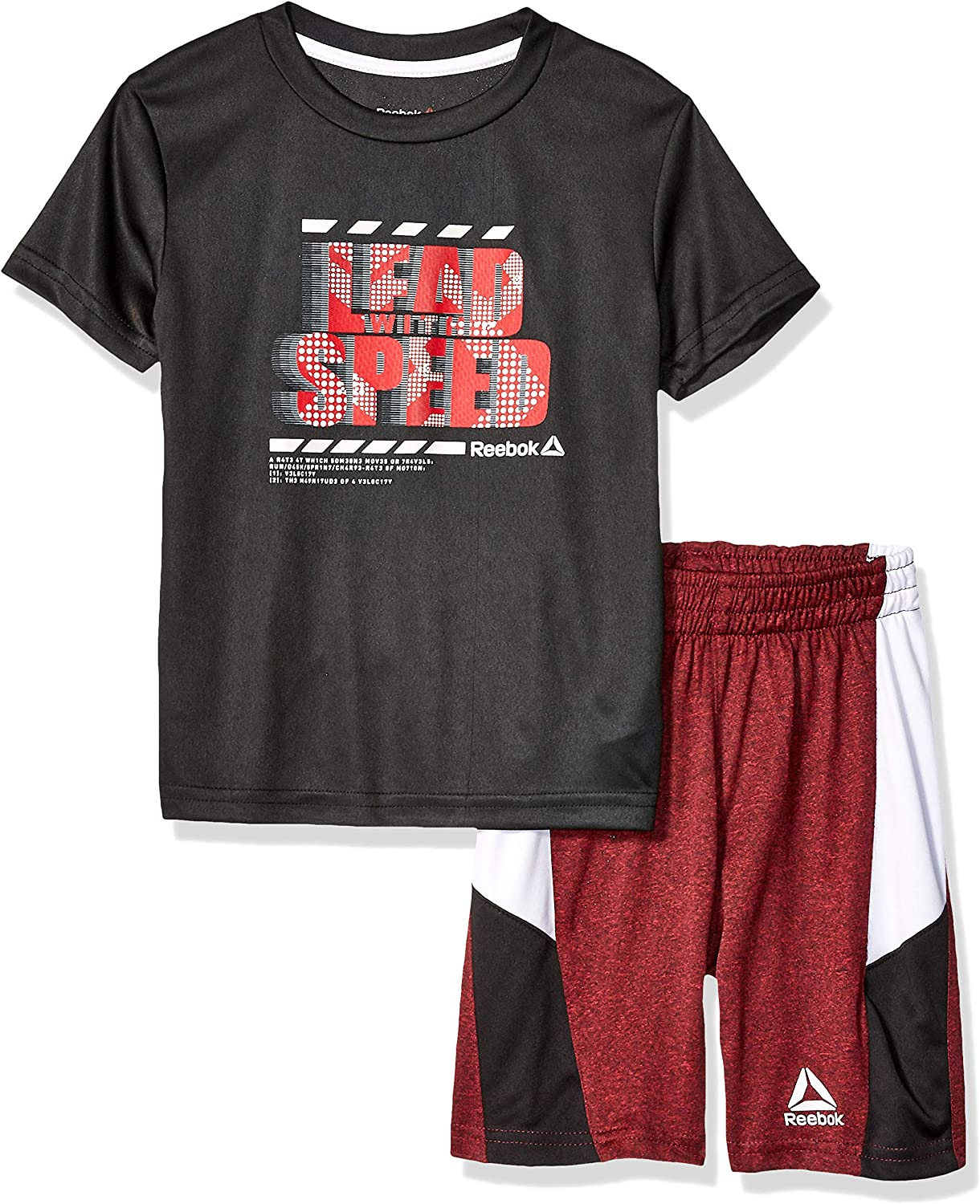 Reebok Boys Sleeve Athletic T-Shirt and Inexpensive Set Wholesale Pull-on Short