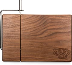 NCAA Wisconsin Badgers Meridian Black Walnut Cutting Board with Cheese Slicer