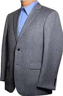 CEZAR DEL PRADO Grey Herringbone Sport Coat - Regular, Big & Tall