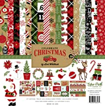 Echo Park Paper Company CCH159016 Celebrate Christmas Collection Kit Paper, Red/Green/Tan/Burlap/Black
