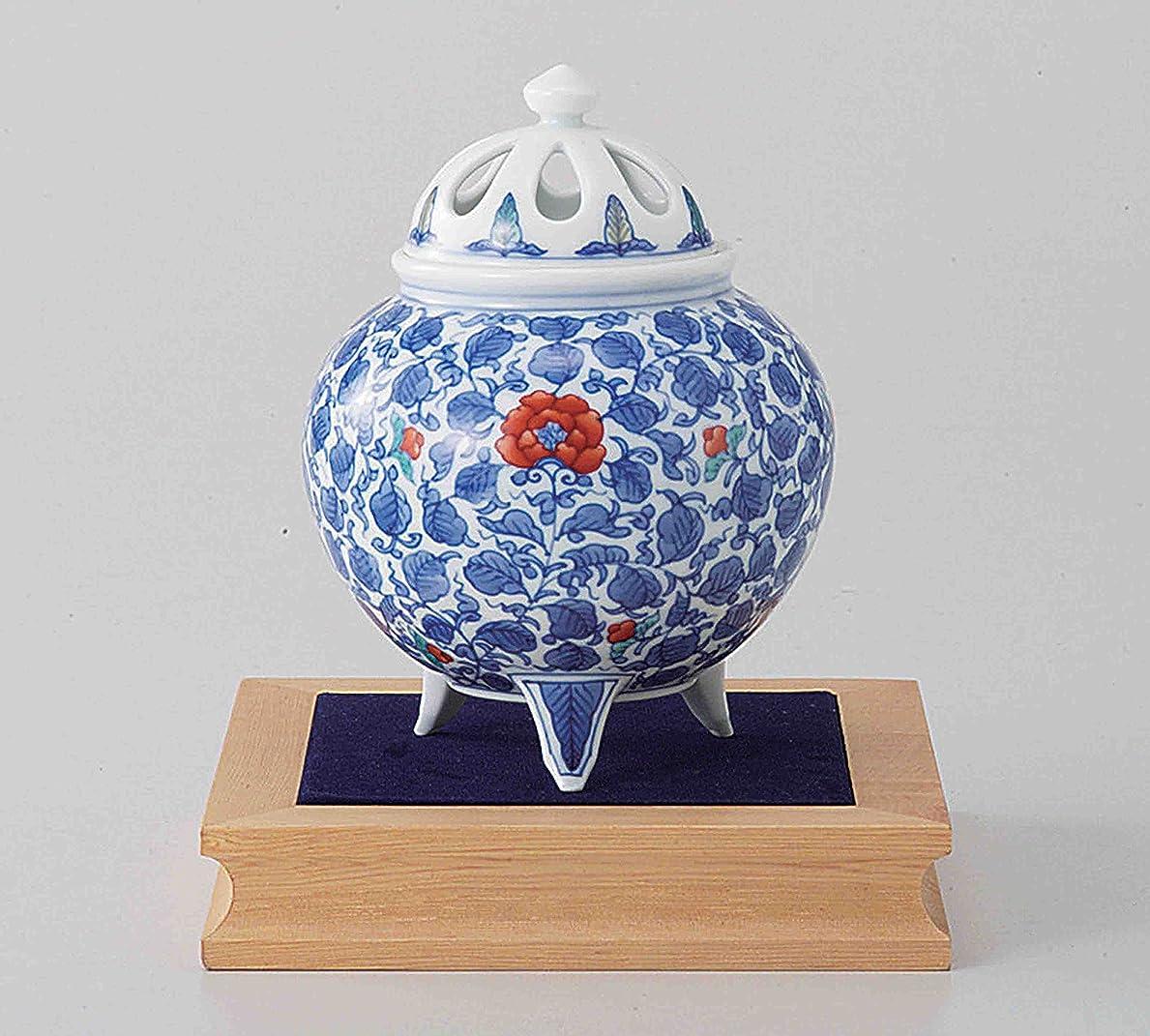 半径サイドボード投げる東京抹茶Selection?–?[プレミアム] Arita Porcelain Cencer : Arabesque?–?Incense BurnerホルダーWベース&ボックス日本から[ EMSで発送標準: withトラッキング&保険]