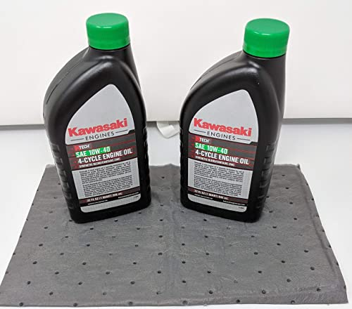 wholesale Kawasaki Pack of 2 99969-6296 Genuine online sale OEM K-Tech SAE 10W-40 4-Cycle Engine Oil outlet sale and Pad online