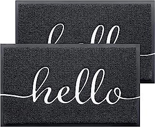 BeneathYourFeet Door Mat 2-Pack Indoor Outdoor Doormat Multiple-use Welcome Mats for Front Door Easy to Clean Garage Floor...