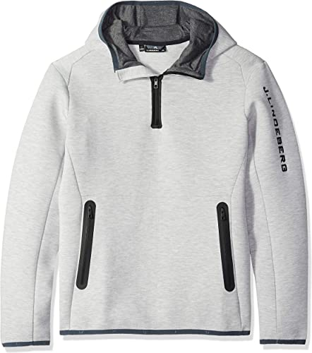J.Lindeberg - Logo Hood Tech Sweat Hommes Powerstretchhoodie (gris)