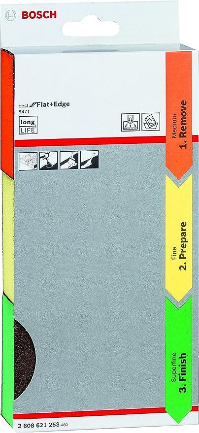 1564 opinioni per Bosch Professional Set da 3 Pezzi Spugna abrasiva S471 Best for Flat and Edge