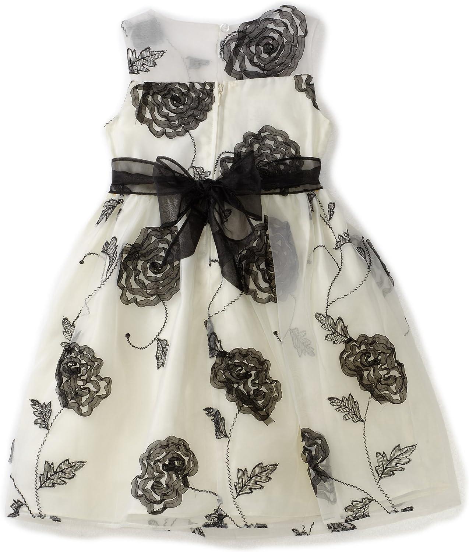 Bonnie Jean Little Girls' Organza Embroidery And Bonaz Trim Dress