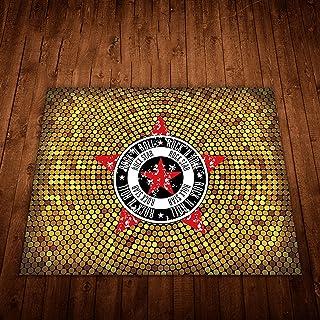 Anti-Slip Drum Carpet, Round/Rectangular Electronic Drum Jazz Drum Percussion Instrument Foot Pad, Shock-Absorbing and Sou...