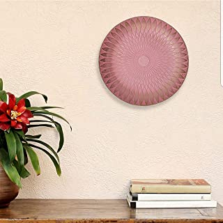 Art Street Pink Color MDF Decorative Wall Plate,Wall Decor Plates for Home & Office Decoration-Size-7.5x7.5 Inchs