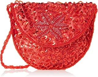 Tastyviva Red Hat Ladies Society Sequin Beaded Bag/Red Great Deals! Red Hat Lady Society/Bag/Red & Purple