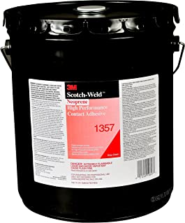 3M 19897-case Neoprene High Performance Contact Adhesive 1357, Gray/Green, 5 gal, Pail Pour Spout