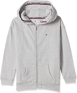 Tommy Hilfiger Girl's Essential Signature Zip Hoodie, Grey, 6 Years