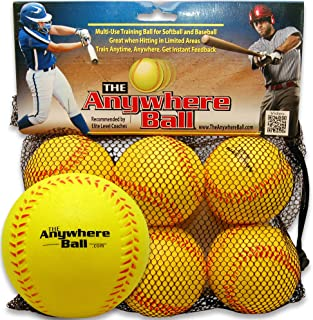 The Anywhere Ball Baseball & Softball Foam Training Ball (6 Pack Bundle)