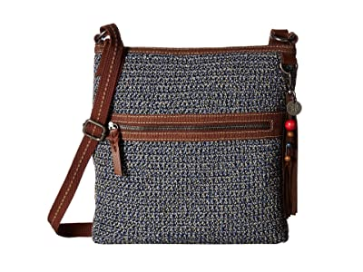 The Sak Lucia Crochet Crossbody (Denim Static) Cross Body Handbags