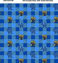 University of Kentucky Fleece Blanket Fabric-Kentucky Wildcats Fleece Fabric with Buffalo Plaid Design