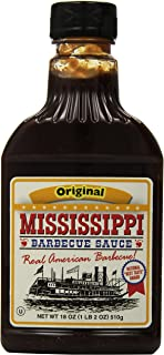 Mississippi BBQ BBQ Sauce, Original, 18-Ounce (Pack of 6)