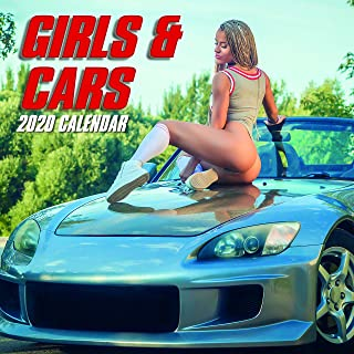 2020 Wall Calendar - Girls and Cars Calendar, 12 x 12 Inch Monthly View, 16-Month, Sexy Ladies Theme, Includes 180 Reminder Stickers