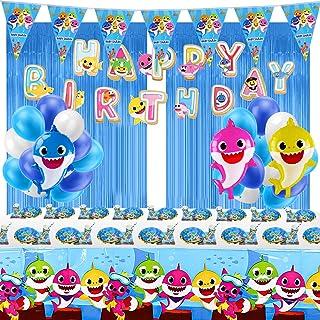 Baby Shark Party Supplies, baby shark birthday decorations, Shark Theme Birthday Party Supplies for Kids, 16-Kids Shark Theme Birthday Party