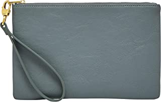 Fossil Women's Wristlet, 8.63''L x 0.25''W x 5.6''H, Light Blue