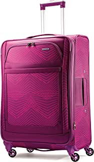 American Tourister Ilite Max Softside Spinner 25, Pink/Purple Stripes
