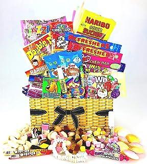 comprar comparacion Único Retro Sweet & Chocolate cesta caja–Old School favoritos cualquier ocasión como &...