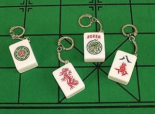 4 Real Mahjong Tile Keychains
