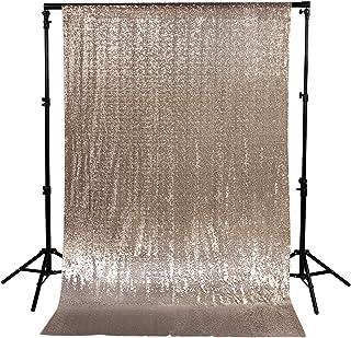 Pailletten Hintergrund Fotografie Hintergrund Vorhang für Party Dekoration, champagnerfarben, 7FT*7FT