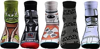 Supersox Disney Star Wars Ankle Length Socks Collection for Men (Pack of 5)