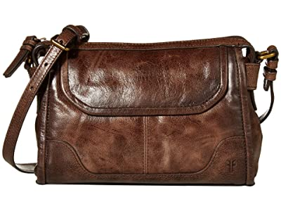 Frye Mel Crossbody (Dark Brown) Cross Body Handbags