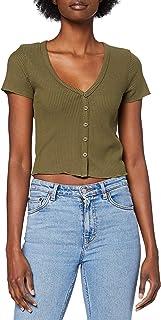 Lee Cooper Women's BUTTON RIB TEE T-Shirt