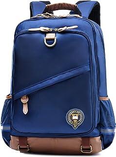 Kids Backpack for School Waterproof Lightweight Bookbag for Children Elementary School Bags for Boys (Dark Blue-1)