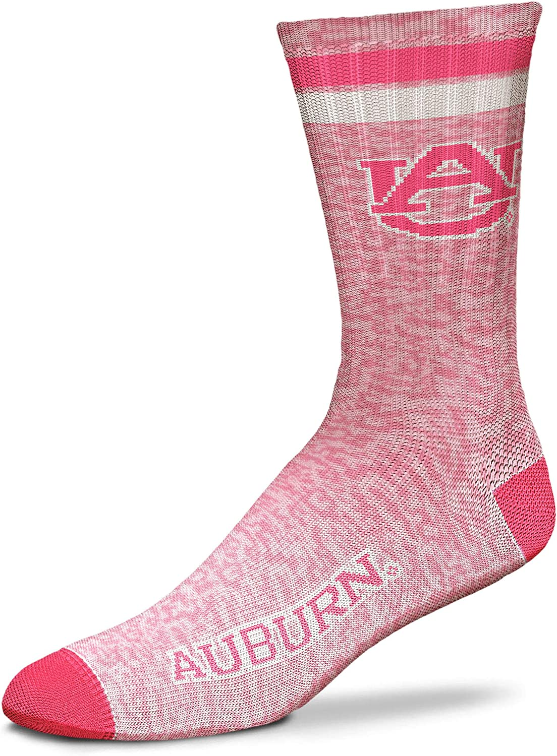 For Bare Feet NCAA Pretty in Pink Womens Crew Socks