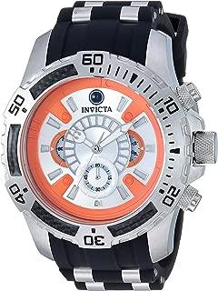 Invicta Men's Star Wars Stainless Steel Quartz Watch with Silicone Strap, Black, 25.8 (Model: 26177)