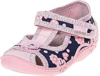 Viggami -Zapatos para Bebe Niñas -Plantilla de Cuero -Muchos Colores y Diseños -Rosa -Azul Marino -Gris - Tallas 18 19 20 ...