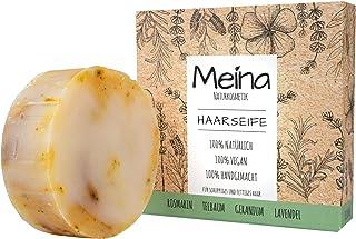 Meina – Bio Haarseife Naturkosmetik für fettiges Haar, Vegan Shampoo Bar mit..