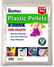 Poly Plastic Pellets (10 LBS) for Weighted Blankets, Crafts, Dolls, Toys, Lap Pads, Bean Bags, I-Spy Bags, Rock Tumbler, R...