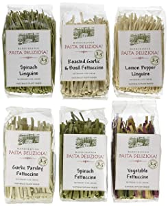 Pasta Deliziosa Handcrafted Pasta Variety Pack, All Flavors, 12 Ounce (Pack of 6)