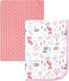Hudson Baby Unisex Baby Cotton Swaddle Blankets, Woodland Fox, One Size