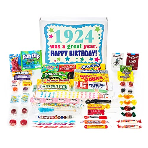 Woodstock Candy 1924 95th Birthday Gift Box Of Nostalgic Retro From Childhood For 95