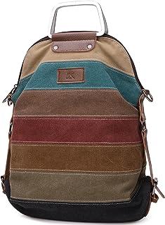 comprar comparacion HASAGEI Bolsos Mochila para Mujer de Lona Bolsos de Hombro Mochilas Casual Multicolor