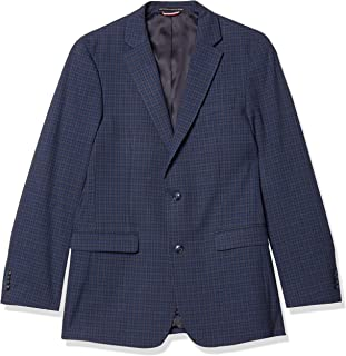 Men's Regular Classic Blazer, Blue/Brown, 36R