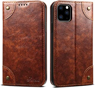 Wallet mobile phone case, used in iPhone 12 Pro Max sheath, advanced PU leather protective cover TPU bumper, with anti-dro...