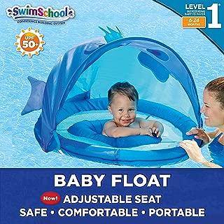 SwimSchool Blue Fun Fish Fabric Baby Pool Float, Splash & Play Activity Center, Dual..