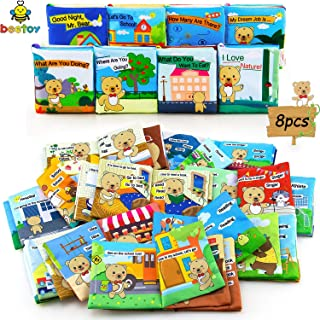 beetoy 8 Themes Soft Baby Books, Mr. Bear Story Cloth Books