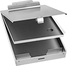 Blue Summit Supplies Aluminum Dual Storage Clipboard, 2 Compartments, Large Heavy Duty Clip for Letter Paper, Great for Office, Jobsite or Classroom