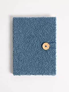 U Brands Hardcover Teal Sherpa Journal with Button and Loop Closure